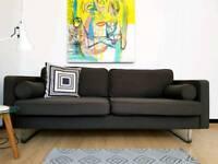 Content By Conran designer sofa in Grey/Brown Wool RRP £1500+