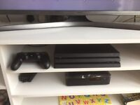 PS4 pro absolute new condition with games and psn