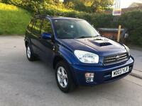 **TOYOTA RAV4 D-4D VX 2.0 DIESEL ESTATE BLUE (2003 YEAR)**