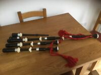 2002 Sterling Silver set of Kintail Bagpipes