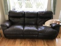 FREE leather sofa with extendable leg rests