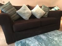 Multiyork Black 3 piece suite (3 seater sofa and 2 armchairs)