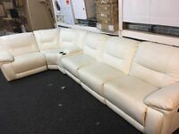 New / Ex Display LazyBoy Recliner Corner Sofa + Media Try Cream/White (left or right side Corner)