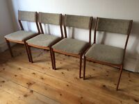 Danish Teak Mid Century Dining Chairs Uldum Mobelfabrik Johannes Andersen ?