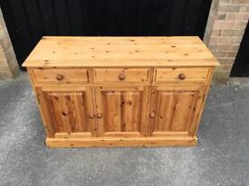 Solid pine sideboard (delivery available)
