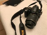 Nikon D3000 digital. SLR camera with 18-55 Dx VR Lens.