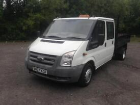 07/07 FORD TRANSIT 100T 350L DOUBLE CAB TIPPER £4999 INC VAT