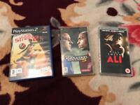 Broken PSP with fifa street 2 PlayStation and pro evo 5 and ali