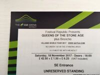 Queens of the Stone Age: 1 x Standing ticket £35 Wembley Arena (Face Value £50)