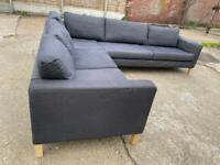 🚚🚚✅✅✅Large Grey L Shape Sofa For Sale Cushions washable Free Delivery Radius Apply ✅✅✅