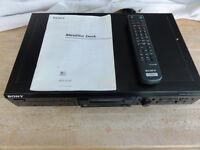 Top Sony Mini Dics Player/recorder with 100 pre-recorded Mini Dics R=Control Manual