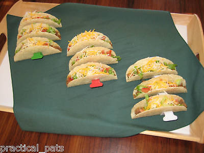 3 Taco Shell Holder Rack Stand Kitchen Tool-Holds 9 Tacos-Makes it easy to fill! (Taco Holders)