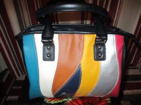 Ladies Handbag Black/Multi colour