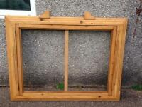 UNUSUAL LARGE PINE ART DECO/30S DESIGN NOTICE BOARD FRAME