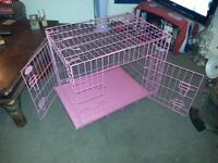 Folding dog cage medium sized