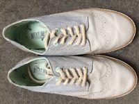 Next Grey Brogue Shoes Size 4