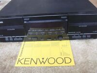 KENWOOD KX W4080 DOUBLE STEREO TAPE DECK