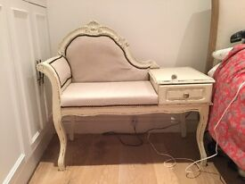 Vintage telephone chair, chair, side table