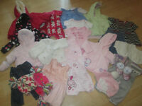 SELECTION OF BABY GIRLS CLOTHES (((REDUCED PRICE))) 48 ITEMS