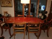 Bowling reproduction handmade dining table and chairs