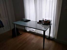 Glassed table