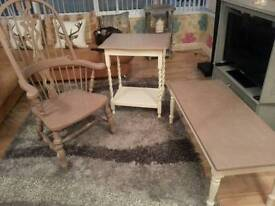Set of up cycled furniture