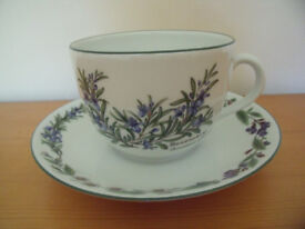 Royal Worcester 'Worcester Herbs' fine porcelain cup and saucer. Excellent condition. £6 ovno.