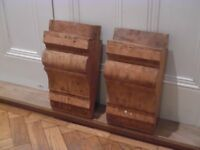 Pair of Extra Large Pine Corbels