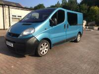 Vauxhall Vivaro 1.9Dti SWB Crewcab van 6 seats with belts