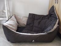 Large YAP Padded Soft Sided Dog Bed - Brown. Hardly Used. Would suit Labrador, Rottie, Dobe GSD etc