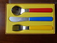 Brightly coloured designer cutlery set (child)