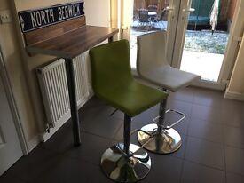 Dunelm Mill Upholstered Gas Lift Bar Stools x2