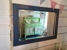 Beautiful shabby chic bevelled edge mirror