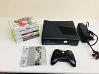 XBOX 360 SLIM 250GB BUNDLE 1 CONTROLLER 9 GAMES