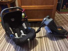 Britax car seat and iso fix base