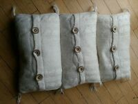Ikea cream wool cushions x3