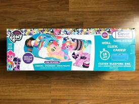 BRAND NEW MY LITTLE PONY CLEVER SLEEPING BAG WITH A REMOVABLE COMFORTABLE MATTRESS