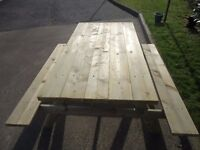 NEW PICNIC TABLE ( Garden Furniture, Bench, Chairs )