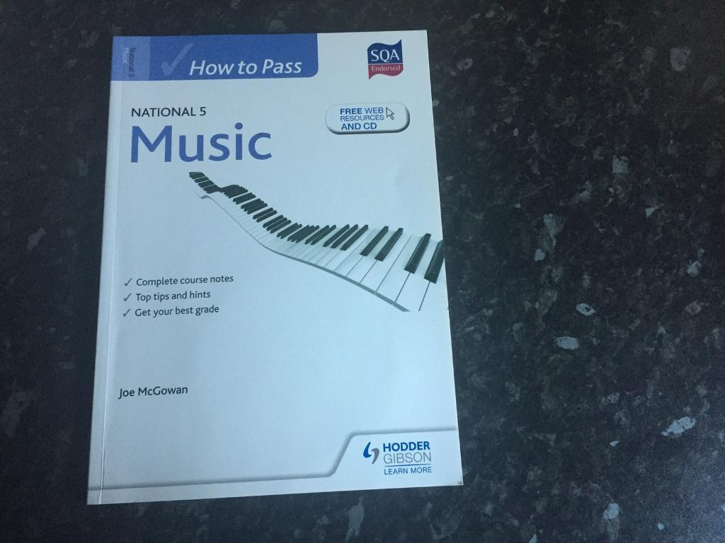 SQA Nat 5 Music Course notes for £5.00