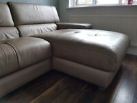 Natuzzi large leather corner sofa