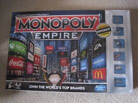 Monopoly Empire Board Game by Hasbro Only Used Once Excellent Condition