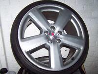 "19"" genuine audi rs/s8 alloys yokohama tyres fit A4 A6 A8 £350"