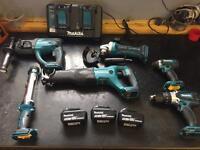 Makita 18v 5 amp 6 piece tool kit