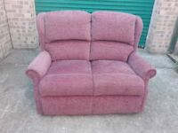 2 seater high back sofa settee in very good condition / free delivery