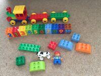 Lego duplo bundle, different sets animals, zoo, number train, bin truck etc