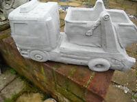 concrete stone skip lorry garden ornament