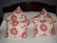 Homemade laura ashley cushions