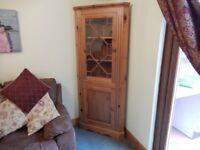 Wooden Pine Corner Display Unit Showcase - ideal for renovation / painting / restoration