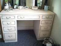 Solid wood dressing table, painted in Annie Sloan chalk paint