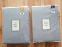 2 Brand New Pairs of New Dunelm Thermal Eyelet Curtains (Dove Grey)